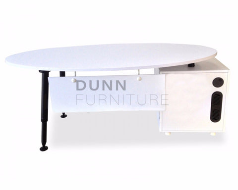 Aura Office Desk With Left Return White Computer Desks Dunn Furniture - Online Office Furniture for Brisbane Sydney Melbourne Canberra Adelaide