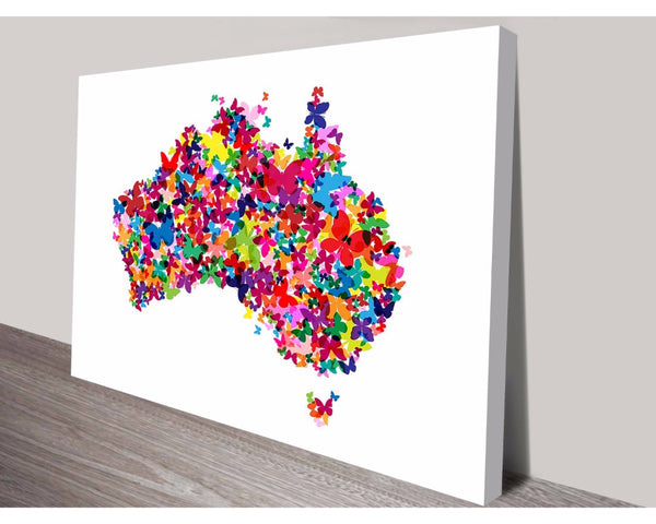 Butterflies Australia Map By Michael Tompsett Wall Art Modern Art Dunn Furniture - Online Office Furniture for Brisbane Sydney Melbourne Canberra Adelaide