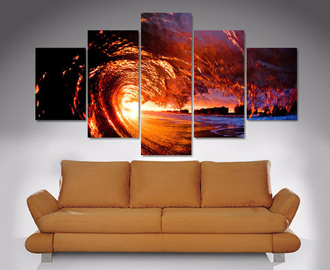 Sunset Roll 5 Piece Diamond Shaped Wall Art 5 Piece Diamond Shaped Wall Art Dunn Furniture - Online Office Furniture for Brisbane Sydney Melbourne Canberra Adelaide