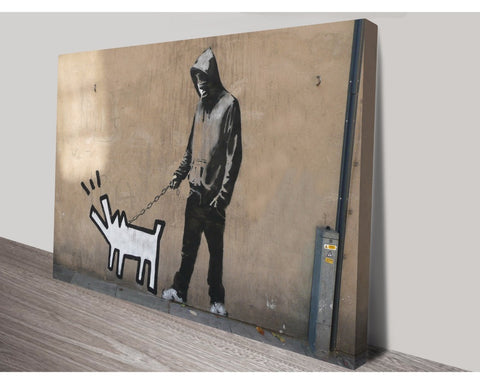 Dog Walker By Banksy Wall Art Banksy Dunn Furniture - Online Office Furniture for Brisbane Sydney Melbourne Canberra Adelaide