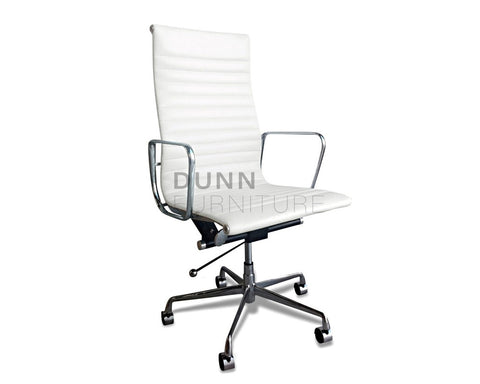 Executive Leather Office Chair Eames Replica White Executive Chairs Dunn Furniture - Online Office Furniture for Brisbane Sydney Melbourne Canberra Adelaide