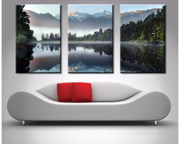 Lake Serenity Triptych 3 Piece Wall Art 3 Piece Wall Art Dunn Furniture - Online Office Furniture for Brisbane Sydney Melbourne Canberra Adelaide