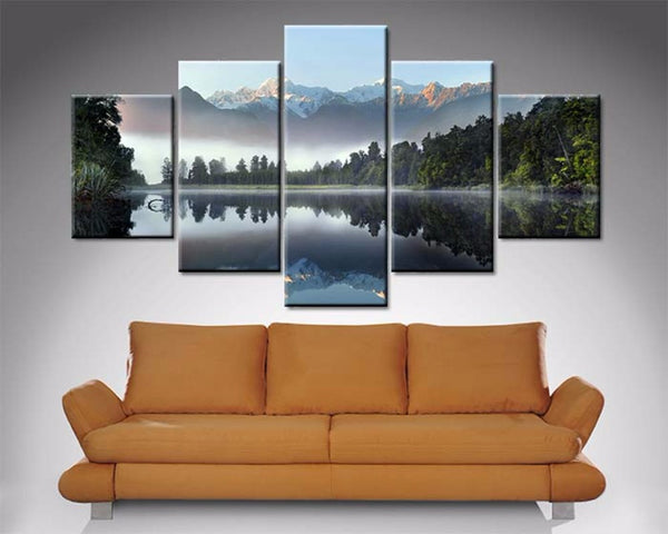 Lake Serenity 5 Piece Diamond Shaped Wall Art 5 Piece Diamond Shaped Wall Art Dunn Furniture - Online Office Furniture for Brisbane Sydney Melbourne Canberra Adelaide