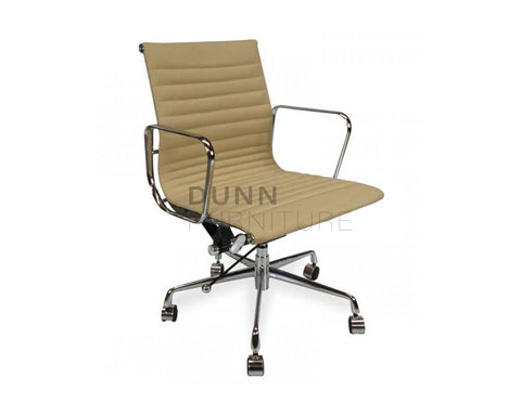 Management Leather Office Chair Eames Replica Light Brown Task Chairs Dunn Furniture - Online Office Furniture for Brisbane Sydney Melbourne Canberra Adelaide