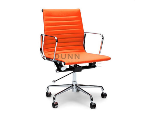 Management Leather Office Chair Eames Replica Orange Task Chairs Dunn Furniture - Online Office Furniture for Brisbane Sydney Melbourne Canberra Adelaide