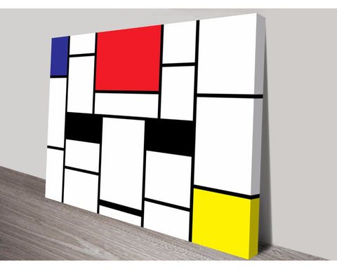 Piet Mondrian Wall Art Modern Art Dunn Furniture - Online Office Furniture for Brisbane Sydney Melbourne Canberra Adelaide