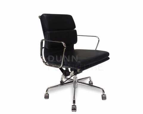Soft Pad Management Boardroom Chair Eames Replica Black Task Chairs Dunn Furniture - Online Office Furniture for Brisbane Sydney Melbourne Canberra Adelaide