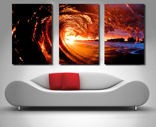 Sunset Surf Triptych 3 Piece Wall Art 3 Piece Wall Art Dunn Furniture - Online Office Furniture for Brisbane Sydney Melbourne Canberra Adelaide