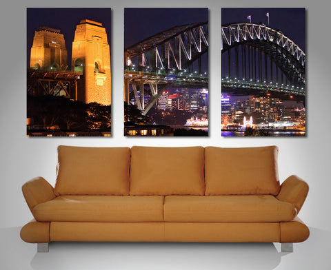 Sydney Harbour Triptych 3 Piece Wall Art 3 Piece Wall Art Dunn Furniture - Online Office Furniture for Brisbane Sydney Melbourne Canberra Adelaide