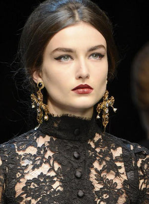 Our Autumn Fashion Trend Pick - Baroque Cross Earrings!