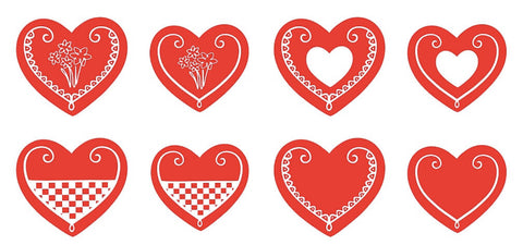 Croatian Licitar Hearts by Uppermoda