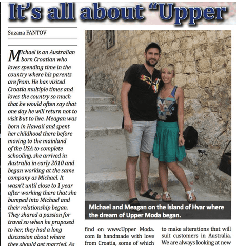 Croatian Diaspora Interview with Suzana Fantov by Uppermoda