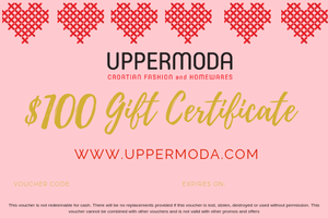 $100 E-Gift Voucher Gift Card Uppermoda