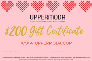 $200 E-Gift Voucher Gift Card Uppermoda