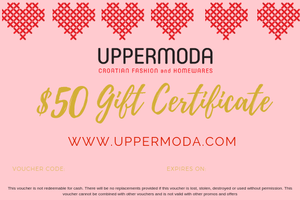 $50 E-Gift Voucher Gift Card Uppermoda