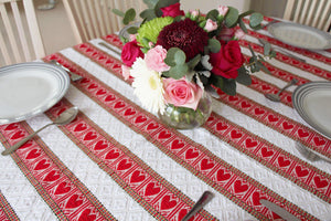 6 Seater - Heart Skips a Beat Croatian Tablecloth Tablecloths Uppermoda