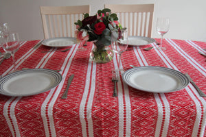 6 Seater - Red Ragusa Croatian Tablecloth Tablecloths Uppermoda