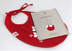 Baby Bib - Red Etno Pattern Bib Uppermoda