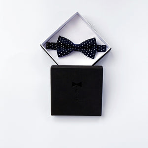 Black with Polka Dots Bow Tie Bow Tie Uppermoda