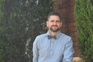 Blue with Polka Dots Bow Tie Bow Tie Uppermoda