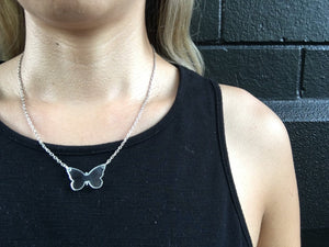 Butterfly Pendant Fine Necklace necklace Uppermoda