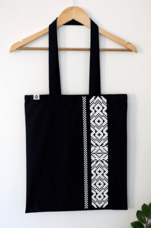 Cotton bag - Blue Etno Pattern tote Uppermoda