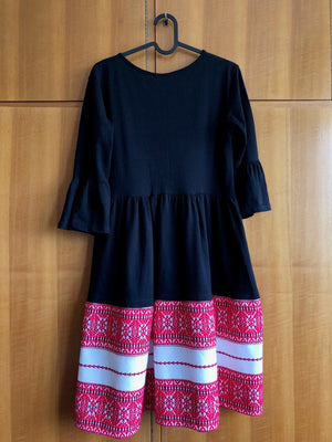 Croatian Flared Sleeve Dress - Krk Dress Uppermoda