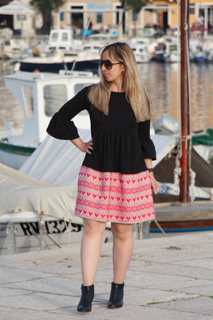 Croatian Flared Sleeve Dress - Rab Dress Uppermoda