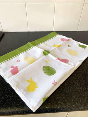 Croatian Kitchen Tea Towel Pack of 2 - Easter Tea Towel Uppermoda