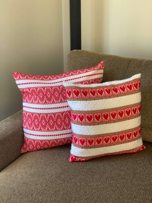 Croatian Large Cushion Cover - Red Ragusa (Suits 50cm x 50cm Cushion) Cushion Cover Uppermoda