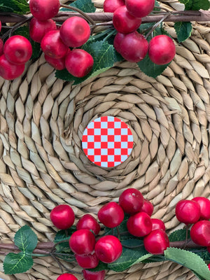 Croatian Phone Pop-Sockets Pop-Socket Uppermoda Red and White Checkers