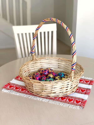 Croatian Red Hearts Skip a Beat Easter Basket Runner Table Runner Uppermoda