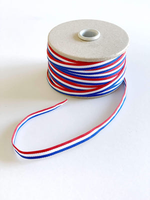 Croatian Red, White and Blue Ribbon 06mm x 50metres Ribbon Uppermoda