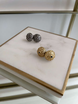 Croatian Šibenik Botun Stud Earrings - Gold earrings Uppermoda