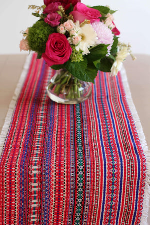 Croatian Table Runner 35cm x 140cm - Red Folklore Table Runner Uppermoda