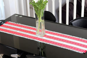 Croatian Table Runner 35cm x 140cm - Red Roses Table Runner Uppermoda