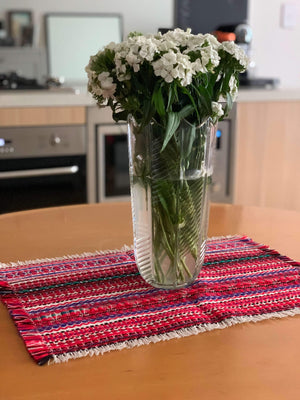 Croatian Table Topper Runner - Red Folklore Table Runner Uppermoda