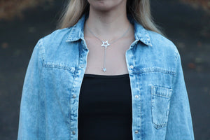Double Star Pendant Fine Necklace necklace Uppermoda