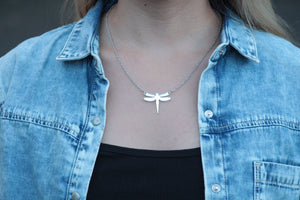 Dragonfly Pendant Fine Necklace necklace Uppermoda