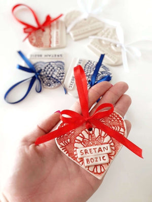 Handmade Croatian Ceramic Christmas Ornaments (PRE-ORDER) Christmas Ornaments Uppermoda
