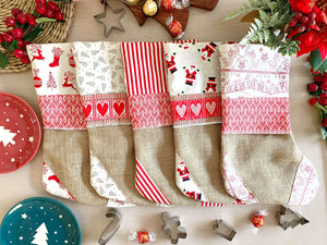 Handmade Croatian Christmas Stockings Christmas Stockings Uppermoda You Pick 5