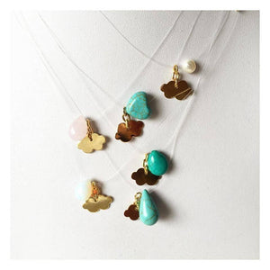 Invisible Clouds Fine Necklace - Turquoise necklace Uppermoda