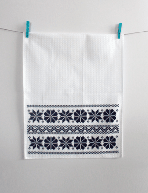 Kitchen Tea Towel Pack of 2 - Etno Pattern Tea Towel Uppermoda 2 x Blue