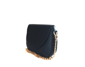 Leather Handbag | Tasnica Collection | Black handbag Uppermoda