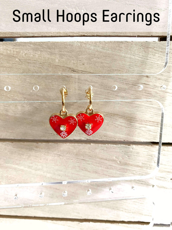 Licitarsko Srce Heart Earrings earrings Uppermoda Mini Hoops