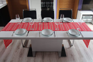 Long Croatian Table Runners - Multiple Sizes - Red Hearts Table Runner Uppermoda