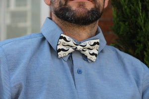 Moustache Bow Tie - LAST ONE AVAILABLE Bow Tie Uppermoda
