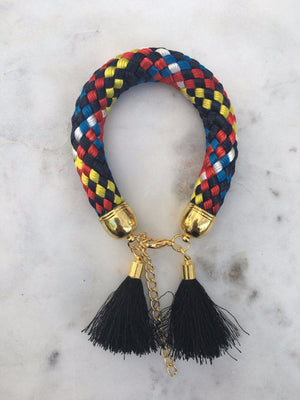 Multi Colour Rope Tassel Bracelets bracelet Uppermoda