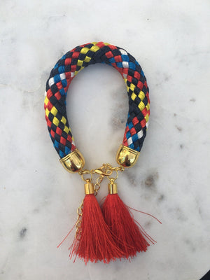 Multi Colour Rope Tassel Bracelets bracelet Uppermoda red