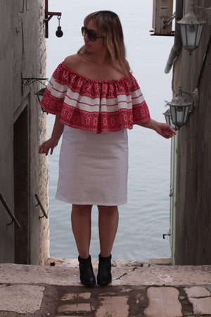 Off The Shoulder Croatian dress - Vis Dress Uppermoda